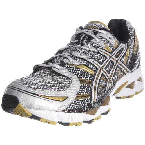 ASICS Men's Gel Nimbus 12 M White/Black/Gold Trainer T045N0191 14 UK