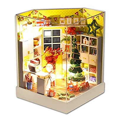 Multifit Christmas Gift LED Dullhouse DIY Cubbyhouse Model House Kit