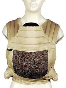 (手快)美国产BabyHawk Mei Tai Baby Carrier 时尚婴儿,有机棉背带$95.17Grow Brown