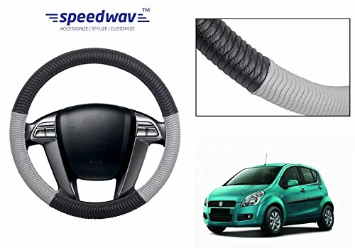 Speedwav SC100 Black & Grey Car Steering Wheel Cover M-Maruti Ritz
