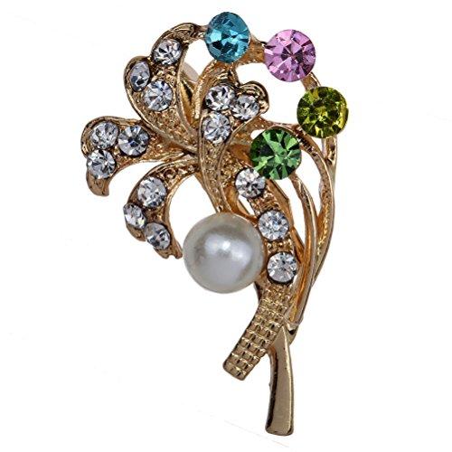 Broche Amybria šŠlšŠgant cristal coloršŠ floral et Pins pour les femmes