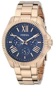 Fossil Women's AM4566 Analog Display Analog Quartz Rose Gold Watch