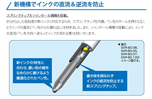 Uni-Ball-Jetstream-Pointe Fine pour stylos Roller Standard recharges de stylo à encre-Pointe 0,7 mm-Bleu-Lot de 10
