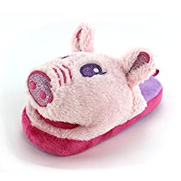 Wiggle Warms Angel the Pig Kids Scuff Slippers (L 2/3 M US Little Kid)