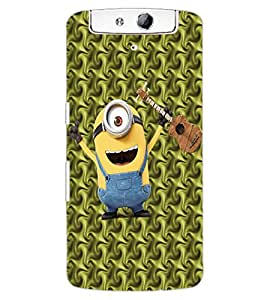 ColourCraft Cartoon Design Back Case Cover for OPPO N1