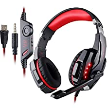 buy [Updated Version Gaming Headset For Ps4] Versiontech Kotion Each G9000 Slim Lightweightled Usb 3.5Mm Game Gaming Headphone Headset Earphone W/ Mic Stereo Bass Fr Ps4 Pc Computer Laptop Mobile Phones