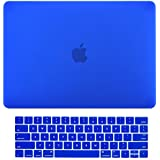 """MacBook Pro 13 Case 2016,Smooth Soft-Touch Matte Frosted Hard Shell Cover For Apple MacBook Pro 13"""" Inch A1706 A1708 With Retina Display 2016 With Or W/O Touch Bar & Touch ID+ Free Keyguard + Touch Bar Protector + Dust Plugs ( Dark Blue )"""