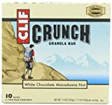 Clif Crunch Granola Bar, White Chocolate Macadamia, 5 Two-Bar Pouches