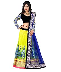 Priya Fashion Embroidered Women's Yellow lehengha Choli and Dupatta Set