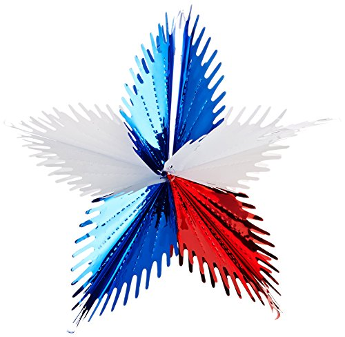 Leaf Starburst (red, white, blue) Party Accessory  (1 count) (1/Pkg)