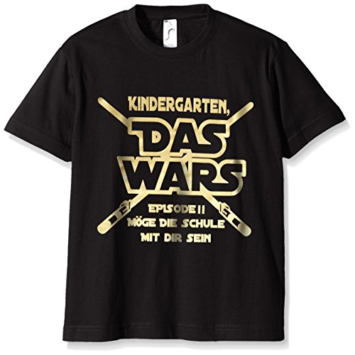 coole fun t shirts jungen t shirt kindergarten das wars herstellergr e 120 schwarz. Black Bedroom Furniture Sets. Home Design Ideas