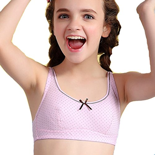 Basherry Big Girls' 7-18 Crop Bra Wireless Teen Training.