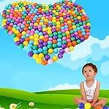 HuaYang 50 Pcs jouet de natation boule de piscine en plastique océan simulée(Random Colors)