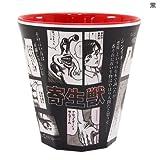 寄生獣[メラミンカップ]【黒(漫画柄) 】