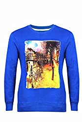 UV&W Full Sleeve Round Neck Saphire Stone Sweatshirt
