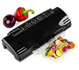Andrew James High Quality Black Vacuum Food Sealer Bag Packing Machine - Includes 2 Year Manufacturer's Warranty