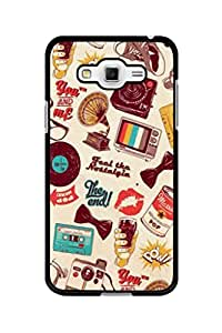 Caseque Feel The Flashback Back Shell Case Cover For Samsung Galaxy Grand 3