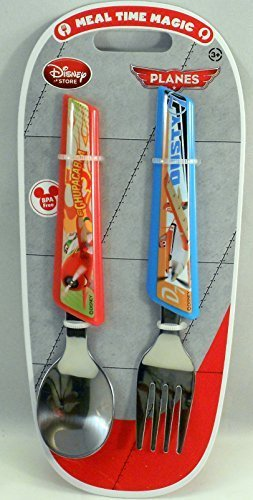 Official Disney Store 2 Piece Planes Flatware Set Spoon and Fork