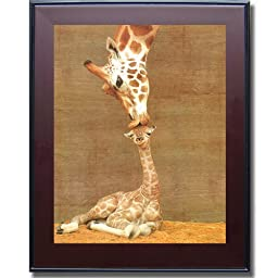 First Kiss by Ron D\'Raine Premium Mahogany Framed Canvas (Ready-to-Hang)