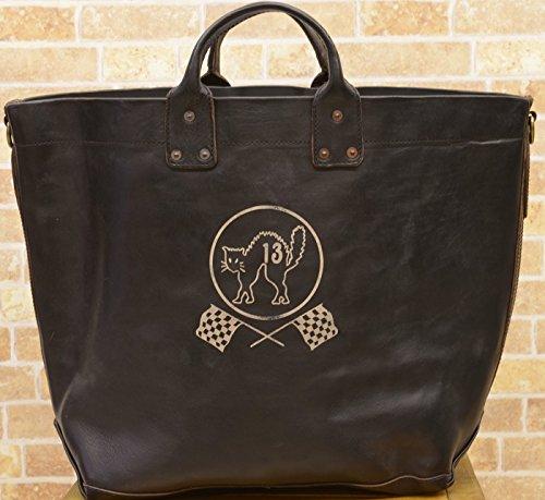 (ダブルアールエル) RRLレザー Stillwell トート Leather Tote Vintage Black 並行輸入品
