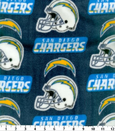 San Diego Chargers Blanket: NFL Fleece Fabric-San Diego Chargers
