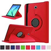 TGK™ Leather 360 Degree Rotating Case Cover Stand For Samsung Galaxy Tab S2 9.7 Inch SM T810 T815 - Red