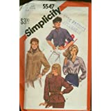 Simplicity Sewing Pattern #5547 Misses' Raglan Sleeve Shirt & Pullover Top ~ Size 18 & 20
