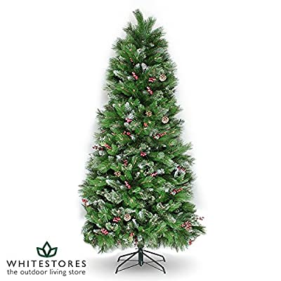 Mercer Leisure 7ft Green Indoor Undecorated Artificial Whistler Decoration Christmas Tree by Mercer Leisure