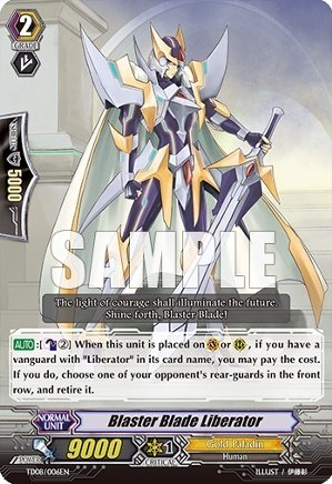 Cardfight!! Vanguard TCG - Blaster Blade Liberator (TD08/006EN) - Trial Deck 8: Liberator of the Sanctuary (Cardfight Vanguard Blaster Blade compare prices)