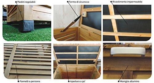 Armadio da esterno 77x54x179 kubone jarsya porta oggetti for Accessori da terrazzo