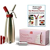 Combo- iSi Gourmet Quart- 24 iSi Chargers- Whipping Siphon Book