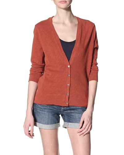 Agave Women's Bianca Long Sleeve Cotton Slub Cardigan
