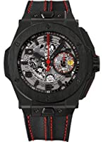 Hublot Ferrari All Black Automatic Openwork Dial Black Ceramic Mens Watch 401.CX.0123.VR by Hublot