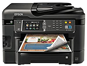 Epson WorkForce WF-3640 Wireless and WiFi Direct All-in-One Color Inkjet Printer, Copier, Scanner, 2-Sided Auto Duplex, ADF, Fax. Prints from Tablet/Smartphone. AirPrint Compatible. (C11CD16201)