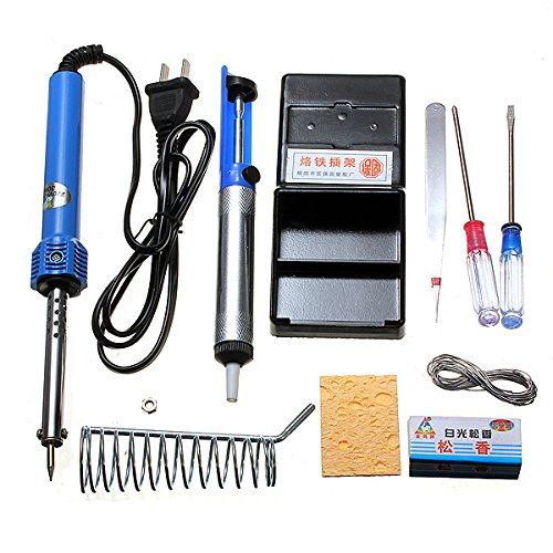 9 In1 Diy Electric Solder Starter Tool Kit Set With Iron Stand Desolder Pump