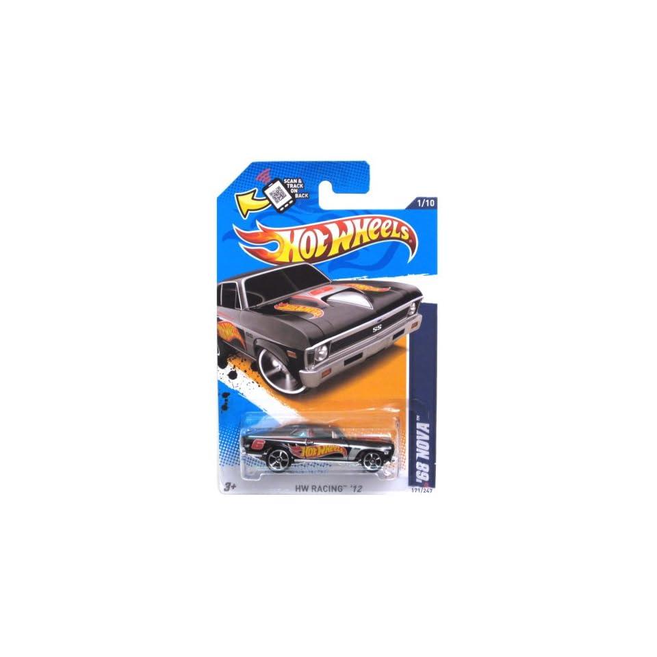 Mattel Hot Wheels HW RACING 12 BLACK 68 NOVA 1/10 #171/247