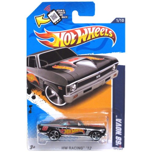 Mattel Hot Wheels HW RACING '12 BLACK '68 NOVA 1/10 #171/247