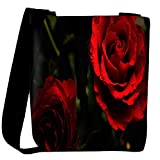 Snoogg Red Rose Designer Womens Carry Around Cross Body Tote Handbag Sling Bags