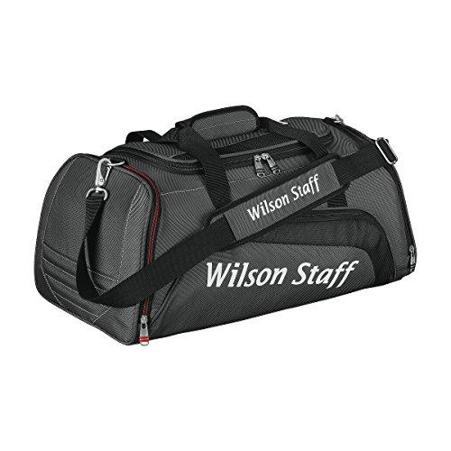 Wilson Staff, Borsa da viaggio per golfista, Grigio (Schwarz/Grau), 52 x 28 x 24 cm