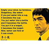 Bruce Lee Motivational And Inspirational Quotes Poster For Office And Kids Room - 100yellow