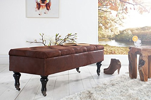 Casa Padrino Baroque Bench with Chest Antique Brown - antique style bench