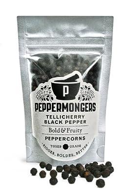 Peppermongers Tellicherry Black Pepper Peppercorns 38 g by GroceryCentre