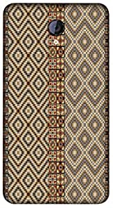 Timpax Slip-resistant, stain-resistant and tear-resistant Hard Back Case Cover Printed Design : Colourful Pattern.Specifically Design For : Micromax A106 Unite 2