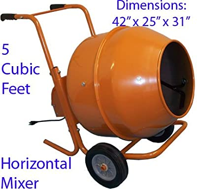buy 5 cubic feet wheel barrow portable cement concrete mixer k 54. Black Bedroom Furniture Sets. Home Design Ideas