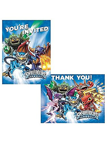 [Skylanders Invitation/Thank You Set (16 Pack) - Party Supplies] (Childrens Costume Party Invitations)