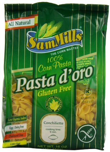Sam Mills Pasta D'Oro Gluten Free, Conchiliette, 1-Pound (Pack of 6)