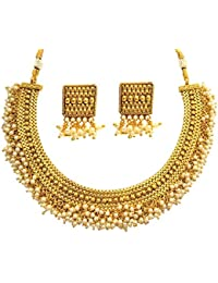 SatyamJewelleryNx Traditional Pearl Necklace Set For Women Fashion Jewellery (Wedding Season)