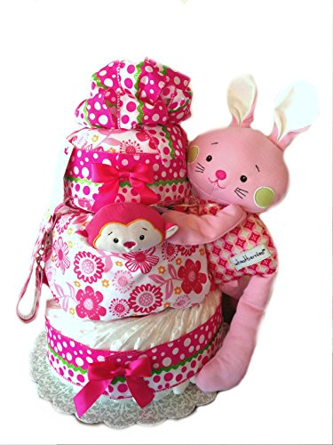 Welcome Baby - Baby Shower Diaper Cake Gift Set (Wheatberry Bunny)