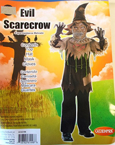 Evil Scarecrow Child Costume Mask 6 NIP