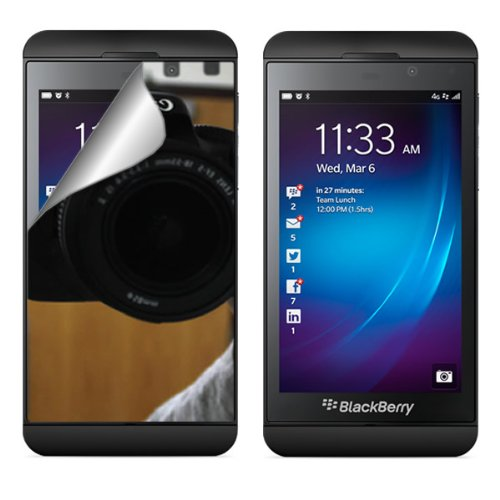 Coveron® Mirror Lcd Screen Protector Shield For Blackberry Z10 [Wcc723]